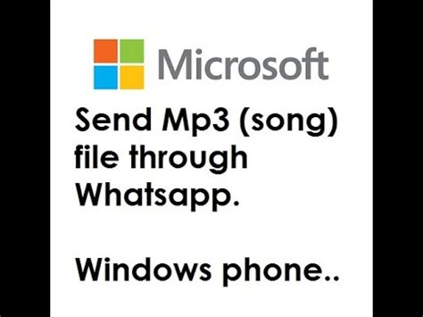 download mp3 from youtube windows phone sending mp3 song file through whatsapp windows phone