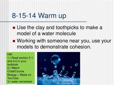 ap biology chemistry review and properties of water youtube