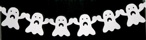 How To Make Paper Ghost For - ghost paper chain craft