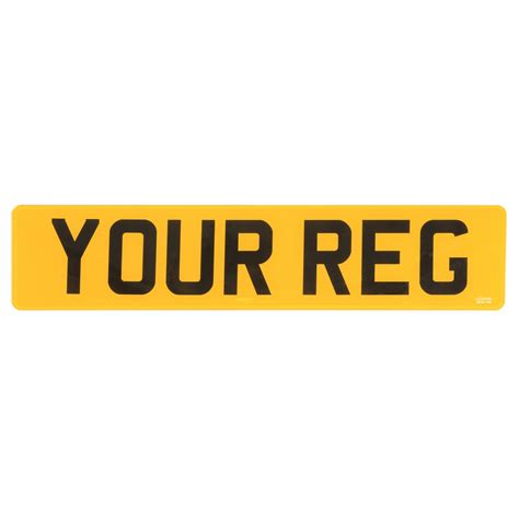 rear car number plates license road legal approved mot
