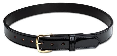 black leather hi gloss dress belt