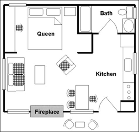 one room plan jasper cabin rentals alpine cabin resort