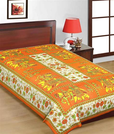 printed bed sheets uniqchoice printed cotton single bed sheet buy