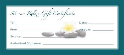 printable gift certificate spa best photos of business gift certificates gift