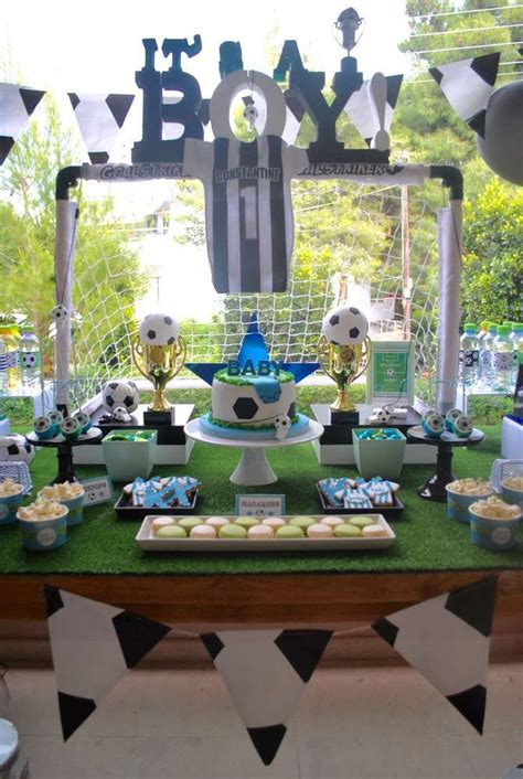 Baby Shower Soccer Theme by Soccer Baby Shower Ideas Dessert Tables On Catch