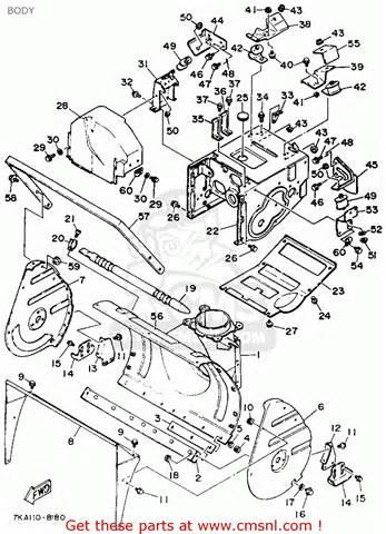 yamaha ys624tm snow blower 1988 schematic partsfiche