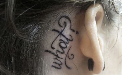 behind the ear tattoos images the ear word tattoos www pixshark images