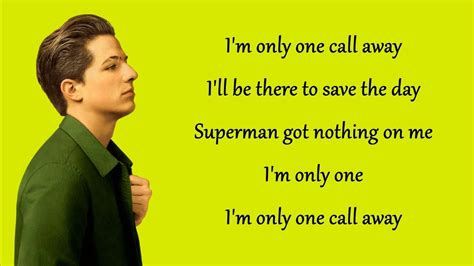 download mp3 charlie puth one call away free one call away charlie puth lyrics youtube