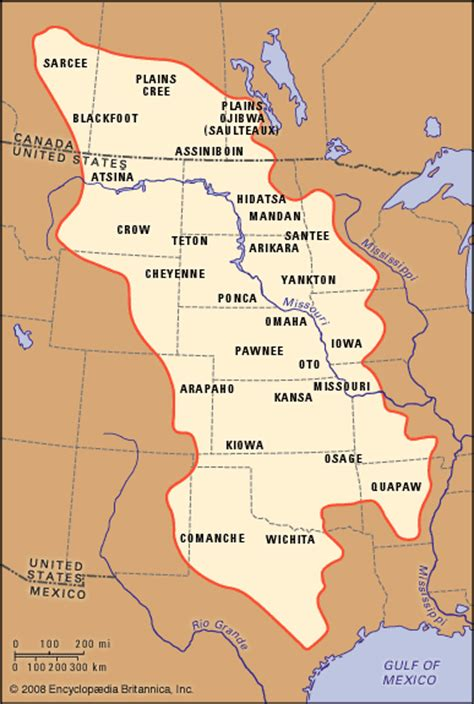 plains of map plains indians population distribution map