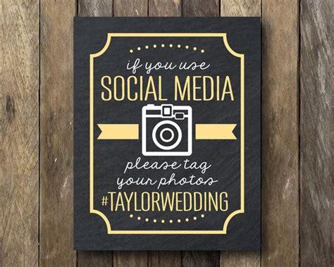 Wedding Social Banner by Hashtag Wedding Printable Social Media Sign Wedding