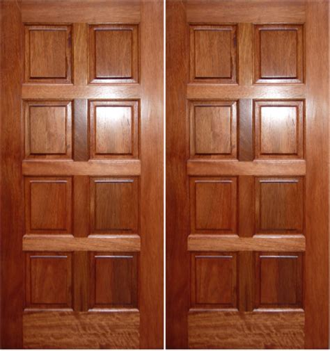 Exterior Door Panel What Materials Are Wood Panel Doors Made From