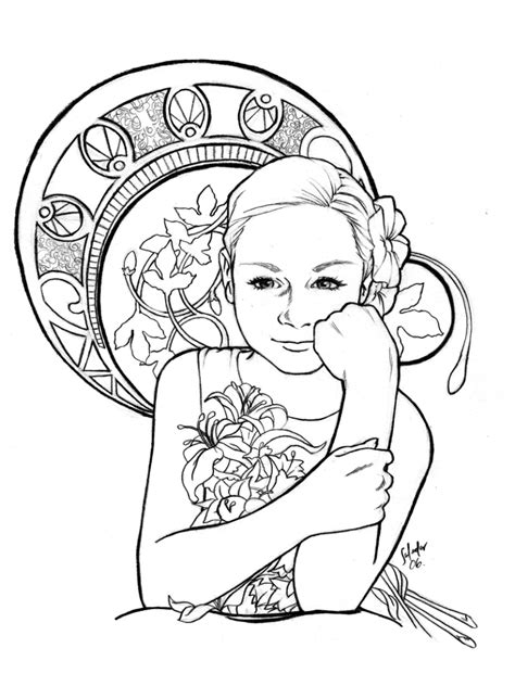 manketti tree coloring page how to draw nouveau