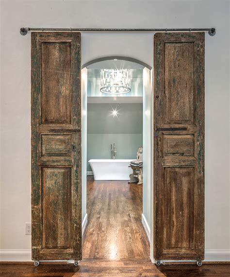 Sliding Barn Door Designs Mountainmodernlife Com Sliding Barn Door Bathroom