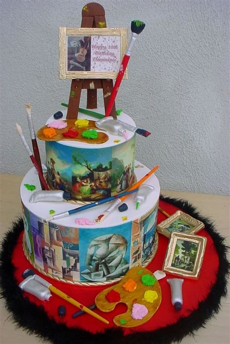 newspaper themed cake picasso goya birthday cake 6 10 quot round cake wrapped