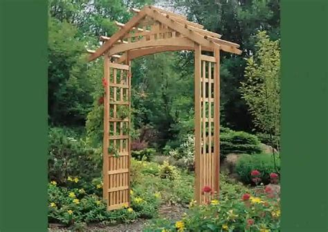 how to build an arbor trellis wooden arbors gates home landscapings how to build