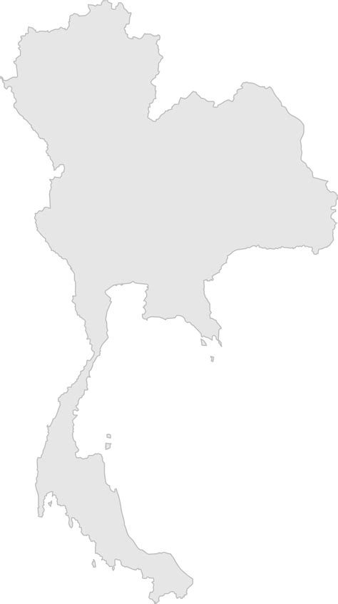 map thailand vector blank map of thailand