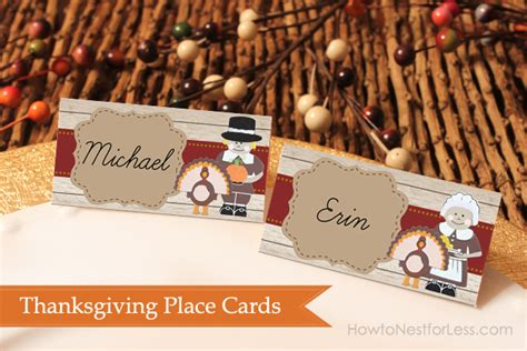 Pilgrim Place Cards Template