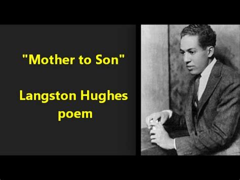 langston hughes biography mother to son video film score mother to son by langston hughes