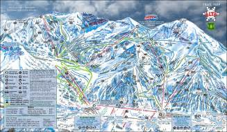 Utah Ski Resorts Map by Alta Ski Area