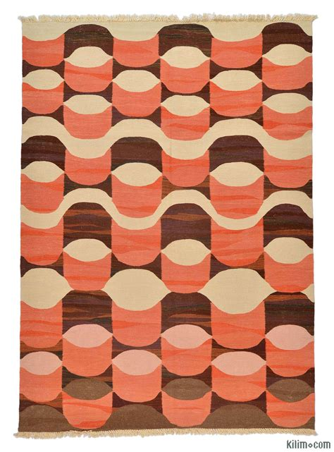 new kilim rugs k0005808 orange new turkish kilim rug