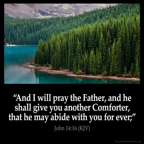i will send you another comforter john 14 16 inspirational image