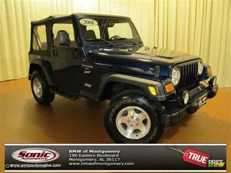 2001 patriot blue pearl jeep wrangler sport 4x4 72245773 gtcarlot car color galleries