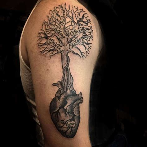heart tree tattoo family tree tattoos for ideas and inspiration for guys
