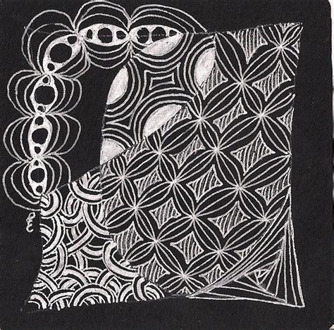 doodle pattern tiles 14 best zentangle black tiles images on pinterest black