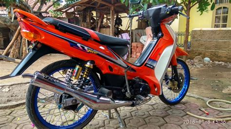 modifikasi motor poswan warna pink  modifikasi