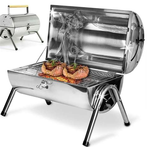 Barbecue Portable Charbon 6271 by Barbecue Barrel Portable En Inox 224 Charbon Ou Bois