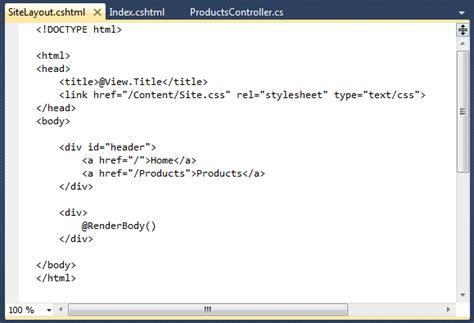 how does layout cshtml work scottgu s blog asp net mvc 3 layouts with razor