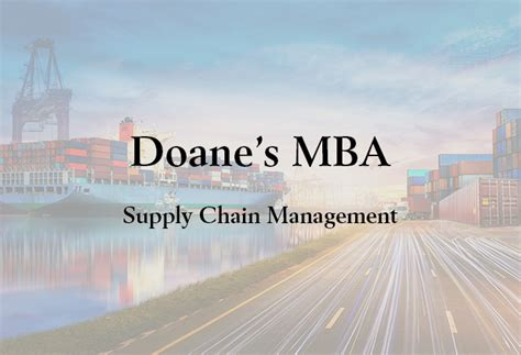 Mba Supply Chain Management Tuition by Doane Mba Program Now Accepts Mitx Micromasters