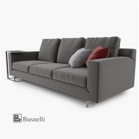busnelli sofa busnelli taylor sofa 3 seat 3d model max obj fbx mtl