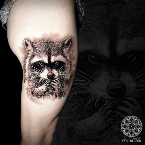 racoon tattoo fluff raccoon on side of s thigh best ideas
