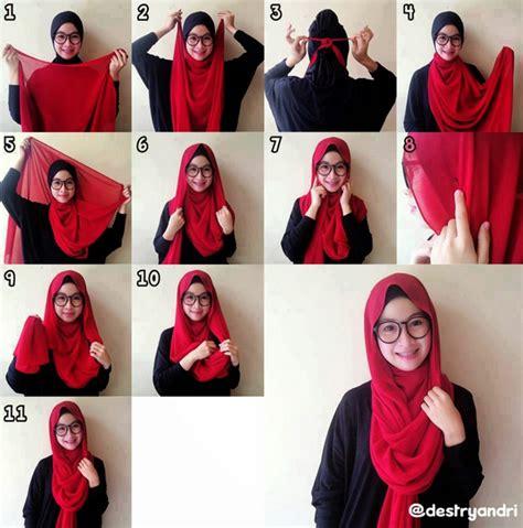 tutorial hijab segitiga trend 2015 cara mengkreasikan model hijab terbaru sesuai syar iah