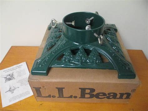 vintage ll bean john wright cast iron christmas tree stand