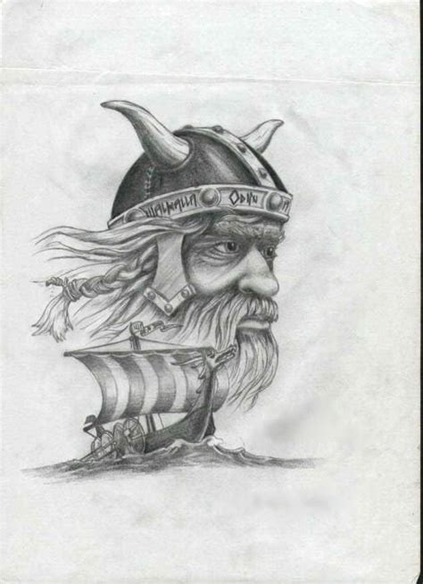 viking longship tattoo design viking by adjantis on deviantart