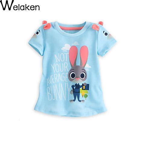 Rabbit Print Sleeve T Shirt new fashion 2016 t shirt rabbit print