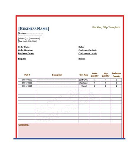 slip template 30 free packing slip templates word excel template