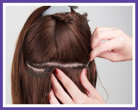 sewing a part in tracks in hair sew in tracks