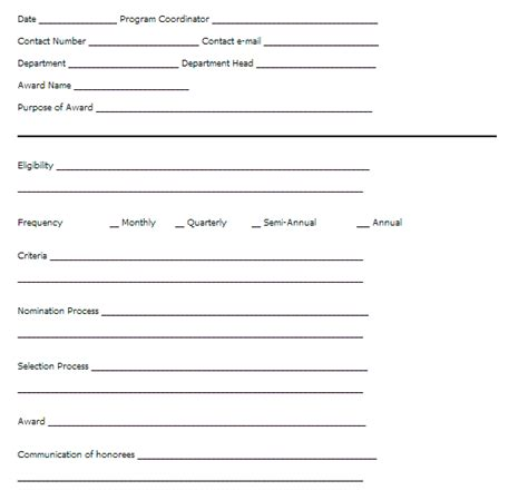 office of human resources recognition template