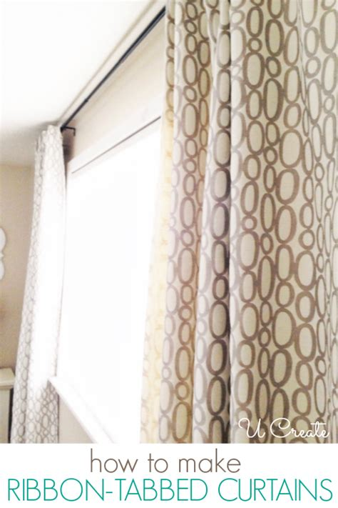 easy curtain tutorial ribbon tabbed curtain tutorial u create