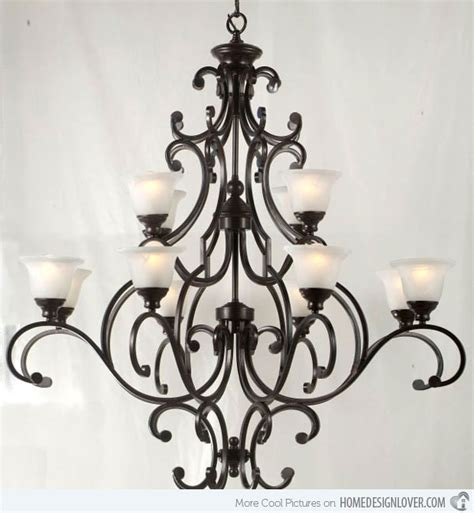 schmiedeeiserner kronleuchter 20 wrought iron chandeliers home design lover