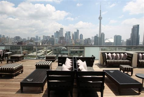 Rooftop Patio Toronto hahn thompson hotel an playground for the