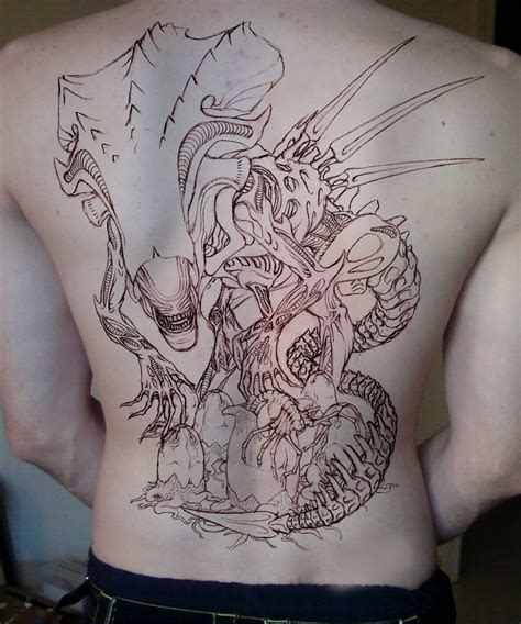 big tattoos aliens and designs on