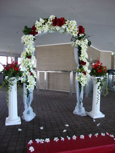 Decorated wedding arch for hire, rent, or rental in Albany
