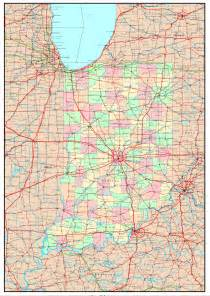 Indiana State Map by Indiana Political Map
