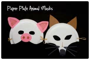 paper plate mask template paper plate animal mask template beautiful scenery
