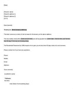 Rental Increase Letter Template by Sle Rent Increase Letter 5 Free Sle Exle