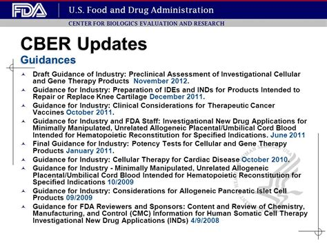 cber bank reagents used in cell therapy manufacturing ppt